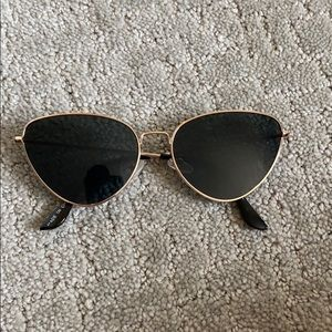 Gold cat eye sunglasses